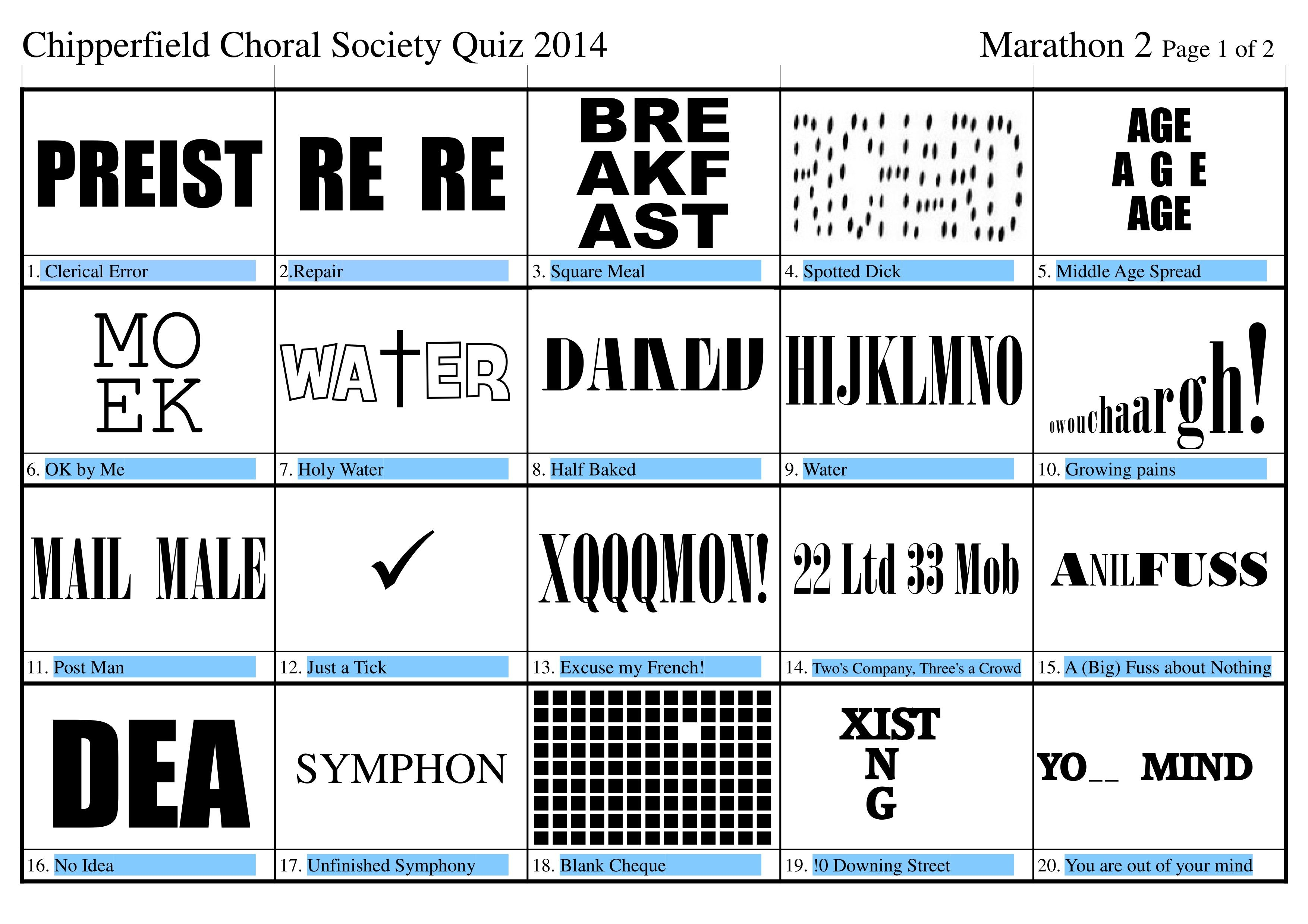 free dingbats quiz questions and answers