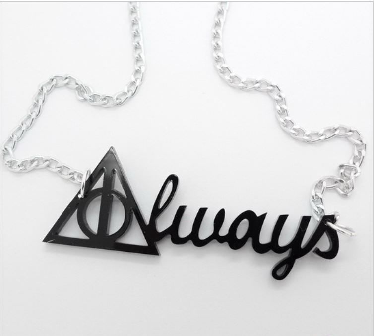 Legendary Deathly Hallows Always Pendant Necklace US Seller