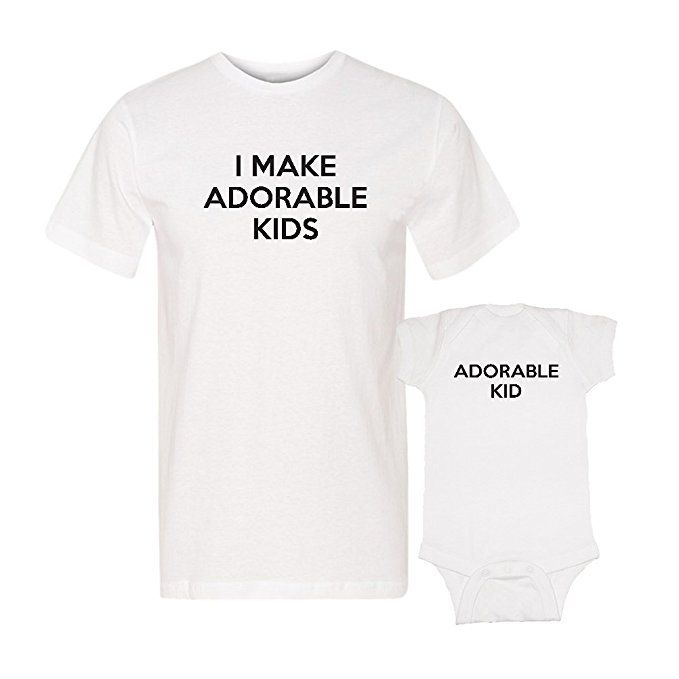 6b17b44c First Father's Day gift - how adorable is this matching father-baby shirt  set! Perfect Father's Day outfit for the new dad...and the baby.