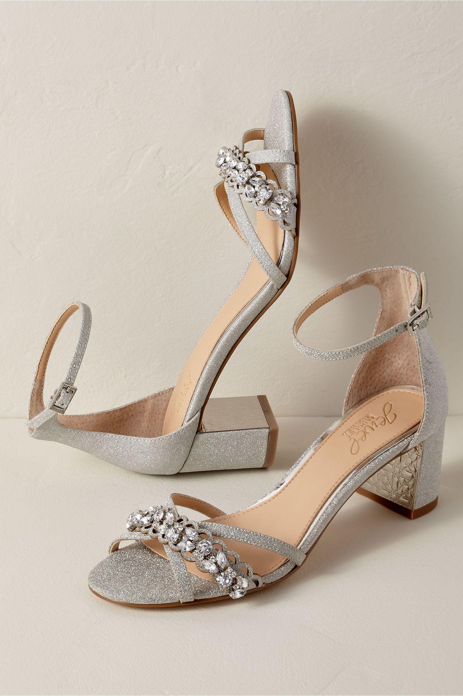 c2a18caef17f BHLDN's Badgley Mischka Jewel by Badgley Mischka Giona Block Heels in Silver