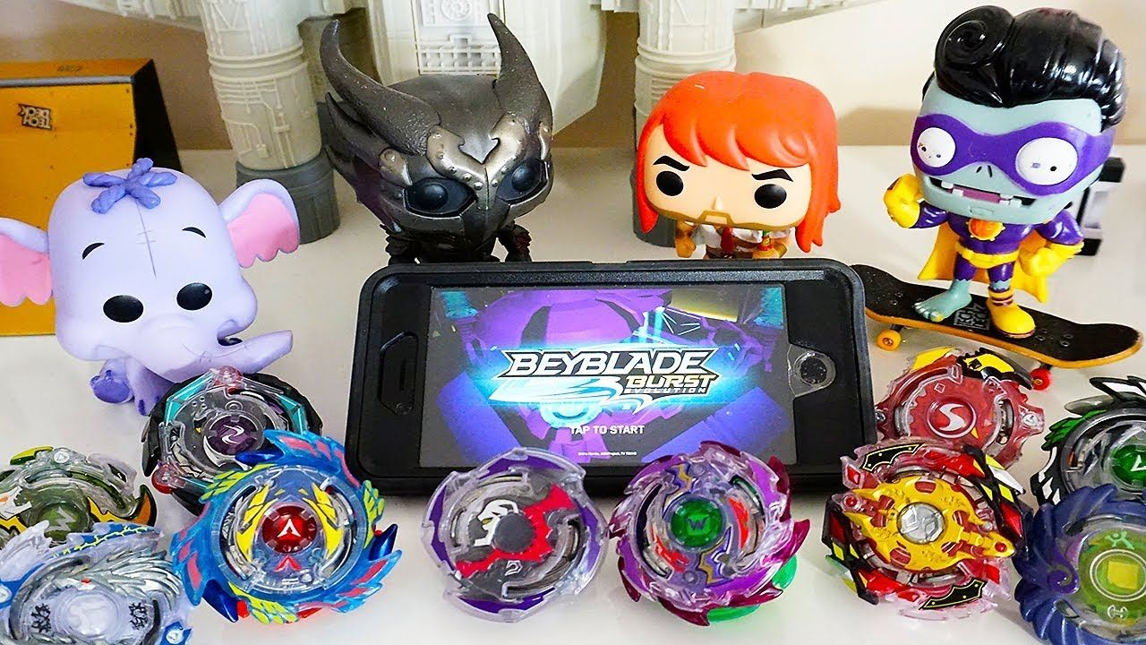Real Life Beyblade VS. Beyblades in App Today on the show