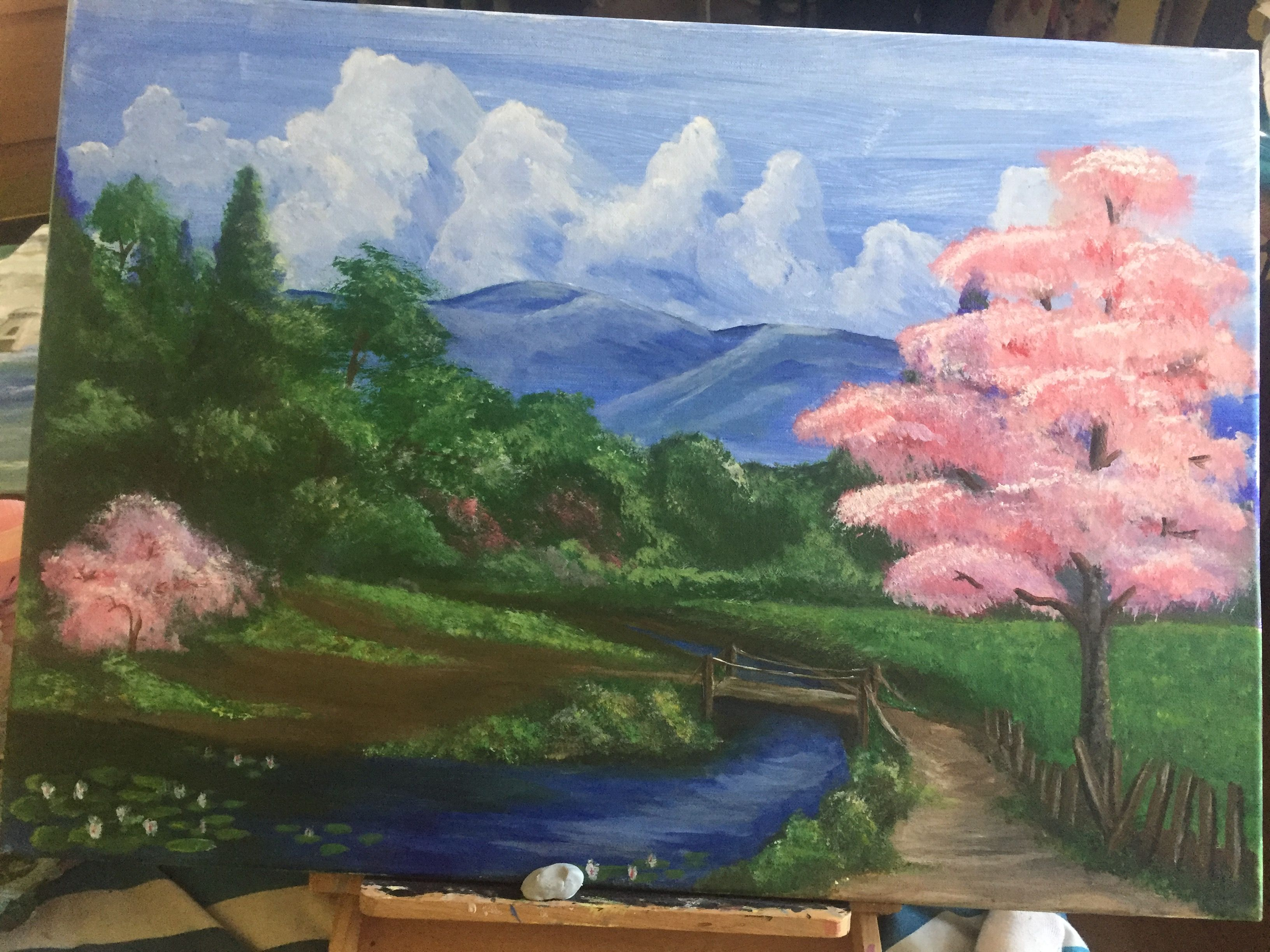 My 1st scenery painting. And was done in acrylic on canvas