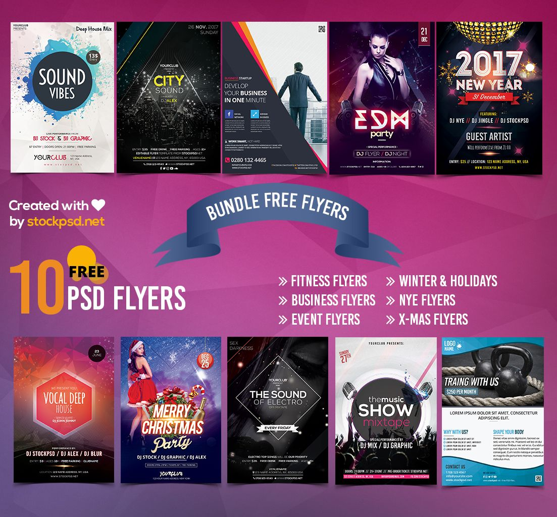 Free Psd Flyer Templates Bundle  Free Psd Files