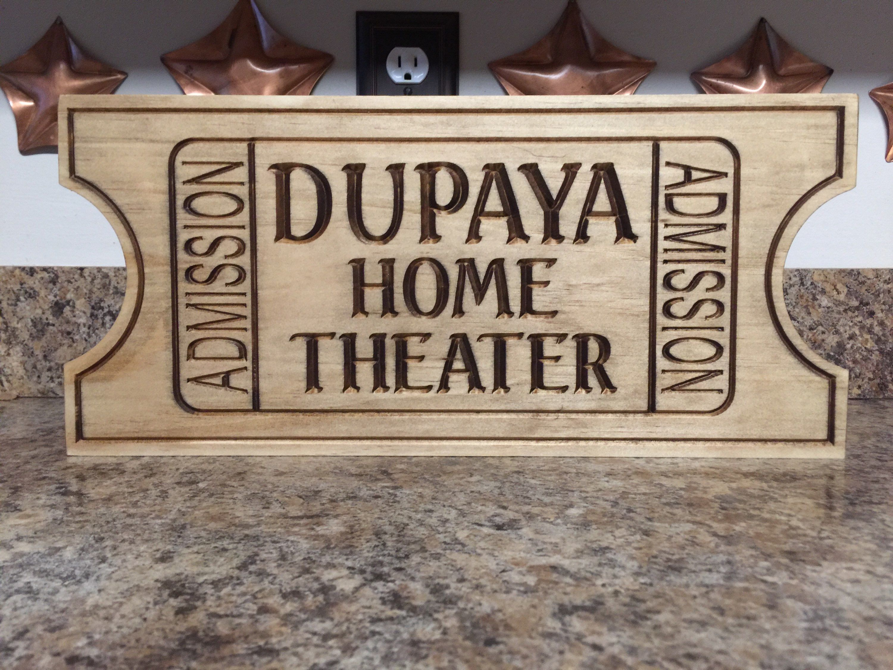 Movie Ticket, Home Theater, Wedding Gift, Anniversary Gift