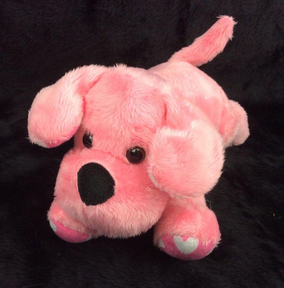Animal Adventure Pink Puppy Dog Hearts Plush Stuffed Animal 9