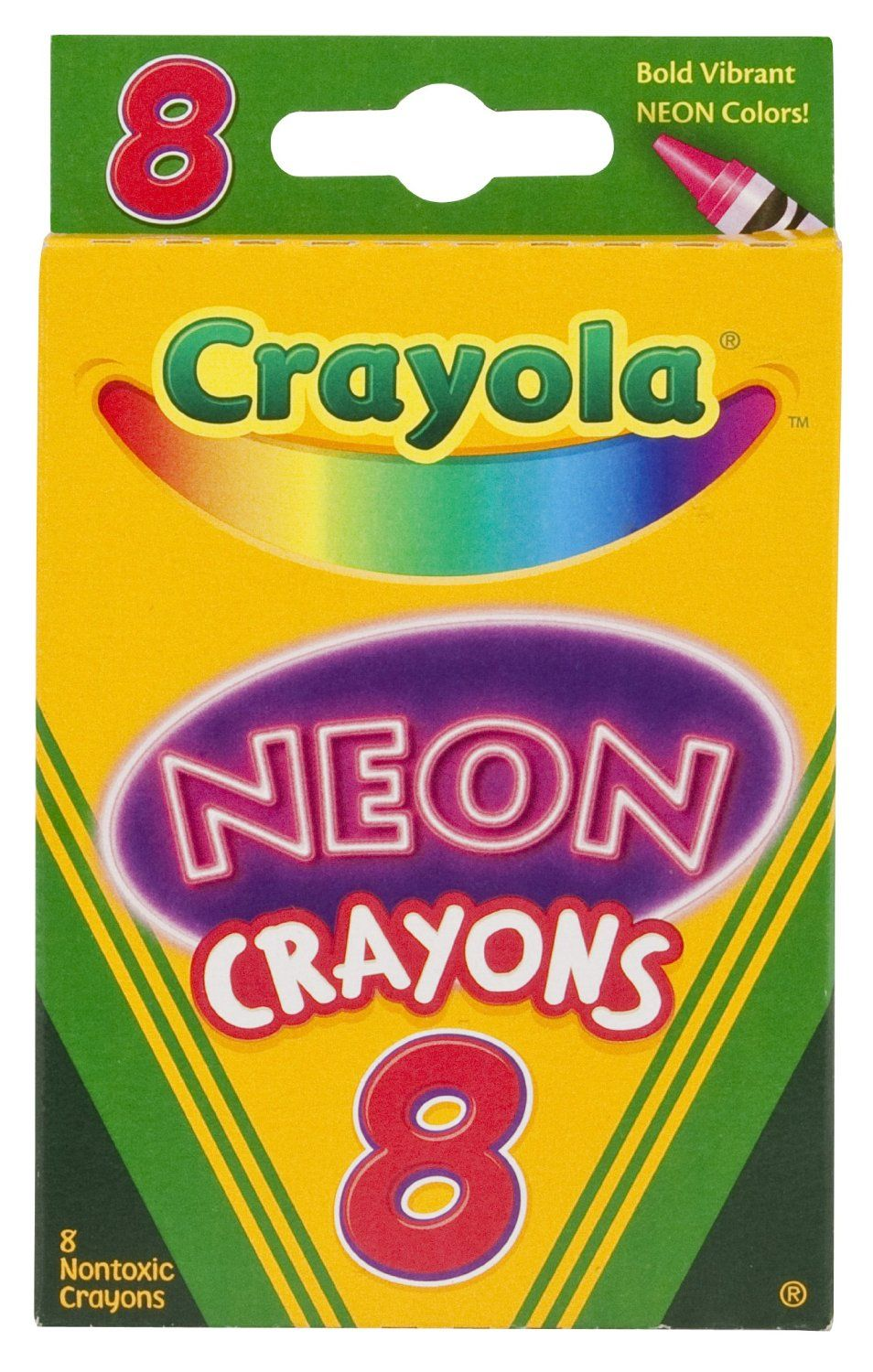 Amazon.com: Crayola Neon Crayons, 8 Count: Toys & Games | packaging ...