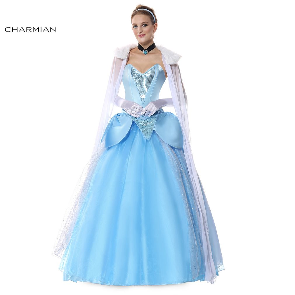 6242 Cinderella Princess Ball Gown Plus Size Fancy Halloween Anime Cosplay Costume For Women
