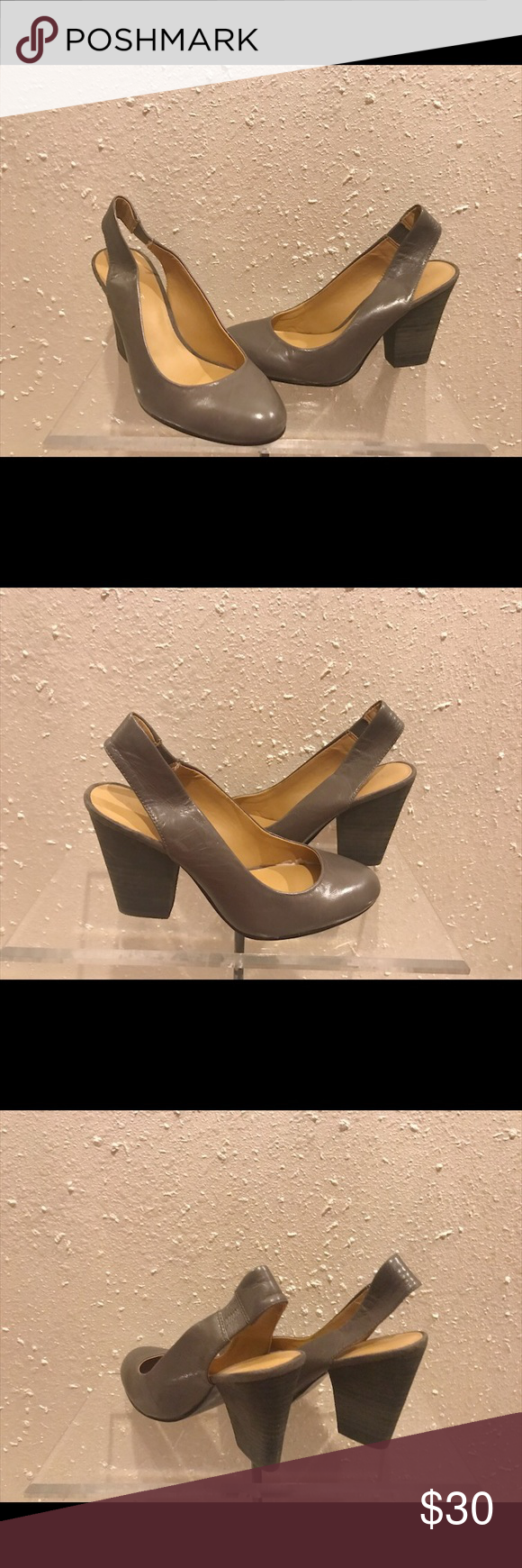 """All shoes are pre-owned and pre-loved 🔸Heel Type: Chunky Heel """"Slingback"""" 🔸Heel Height: 3 1/2 Nine West Shoes Heels"""
