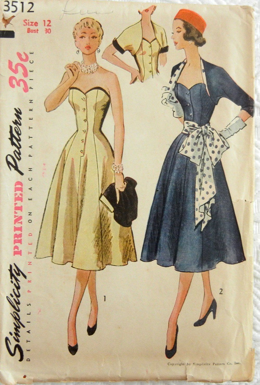 simplicity 3512 wow especially with the polka dots i