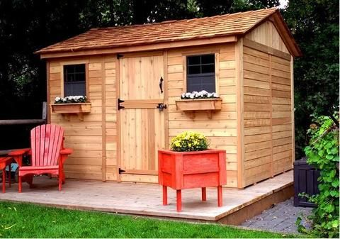 Outdoor Living Today - CB128 - 12 x 8 Cabana Shed with ... on Outdoor Living Today Cabana id=51908