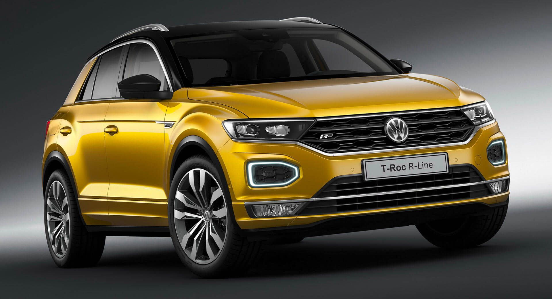 Vw T Roc And Tiguan Allspace Try To Look Fast With R Line Trims Carscoops Volkswagen Compact Suv Volkswagen Models