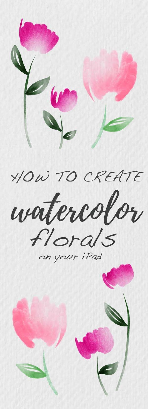 How to Create Watercolor Florals on Your iPad - I want to show you how to create beautiful watercolor florals on your iPad using the app Procreate. We'll cover watercolor methods like layering, darkening, and masking fluid. I'll show you how to make everything from abstract ink and watercolor paintings to loose modern floral bouquets. I made 10 watercolor brushes and a watercolor texture paper that I want to share with you as free downloads. to Create Watercolor Florals on Your iPad - I want to show you how to create beautiful watercolor florals on your iPad using the app Procreate. We'll cover watercolor methods like layering, darkening, and masking fluid. I'll show you how to make everything from abstract ink and watercolor paintings to loose modern fl...
