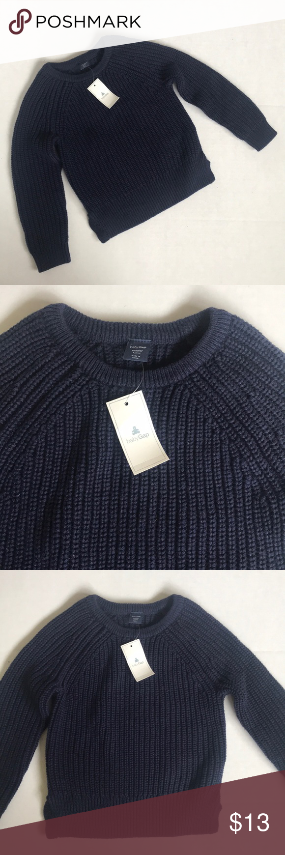 60191c3b00ad NWT Baby Gap Knit Sweater NWT knit navy blue pullover sweater by ...