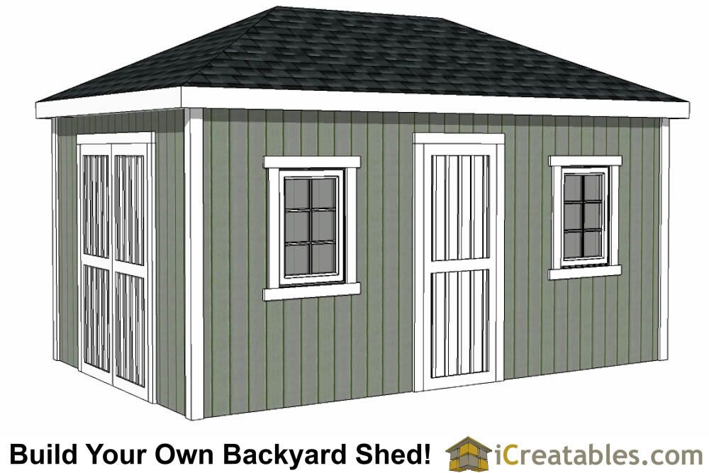 10x16 Hip Roof Shed Plans Building A Shed Shed Plans Free Shed Plans
