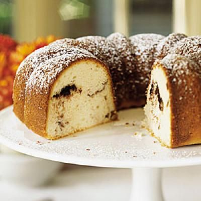 Sour Cream-Hazelnut Bundt Cake