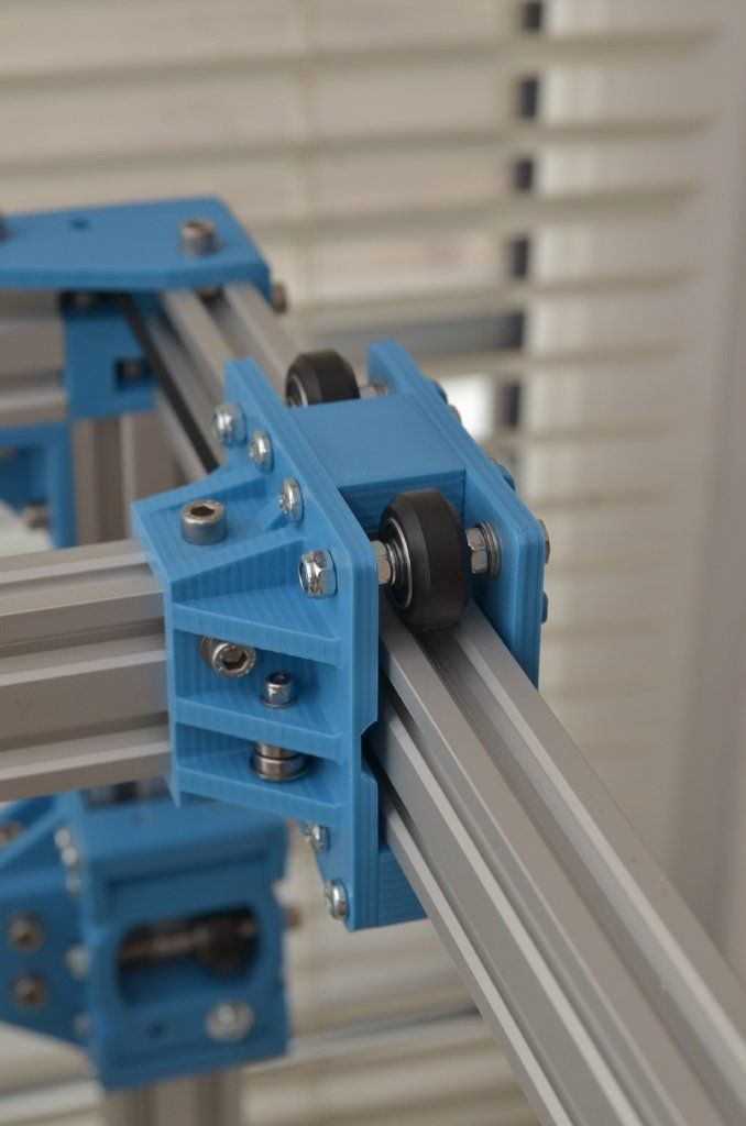 Modular carriages for 4020 v-slot (for d3m-bot, d-bot, c-bot) by _MSA_ -  Thingiverse | Nábytok