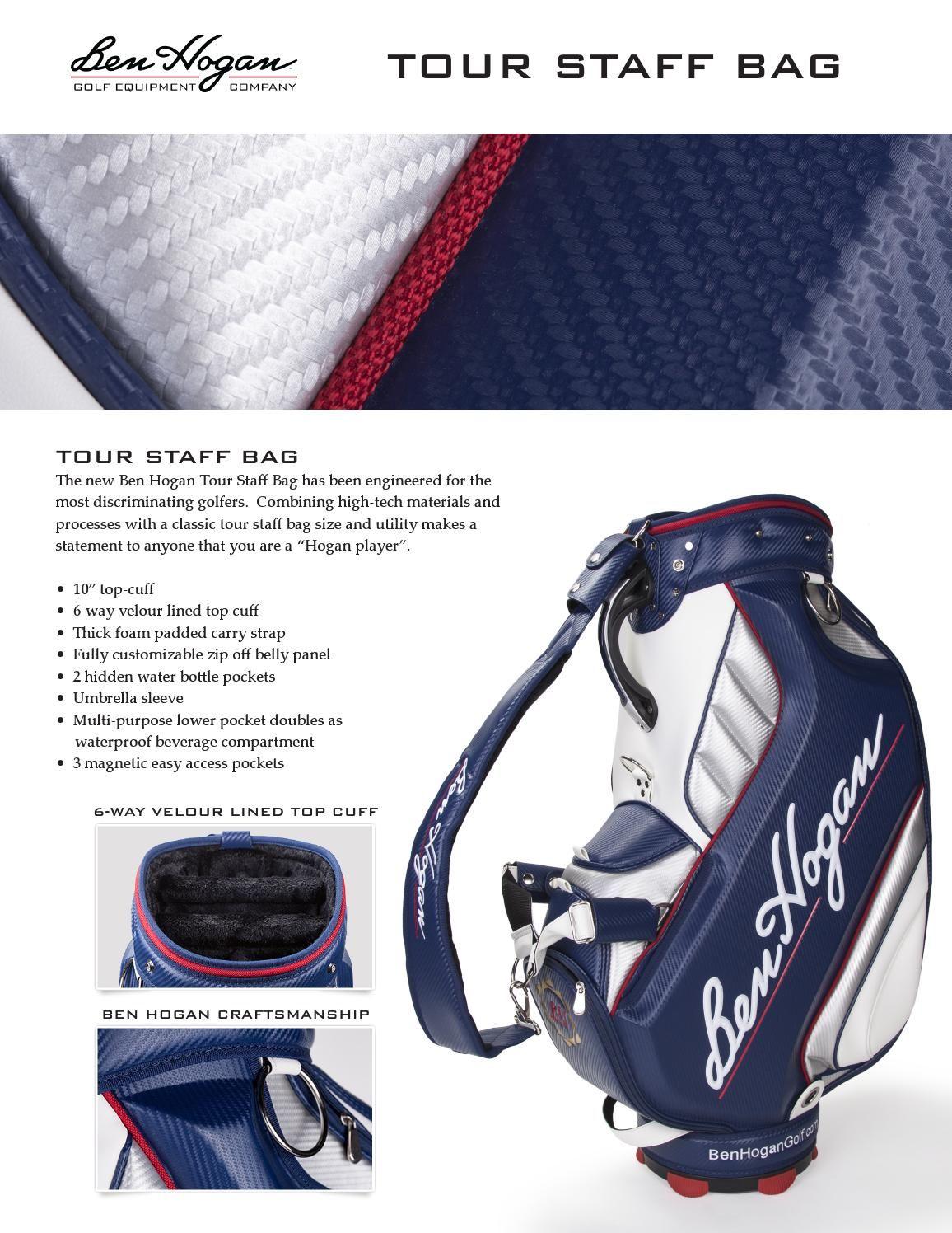 Tour Staff Bag By Ben Hogan Golf Issuu
