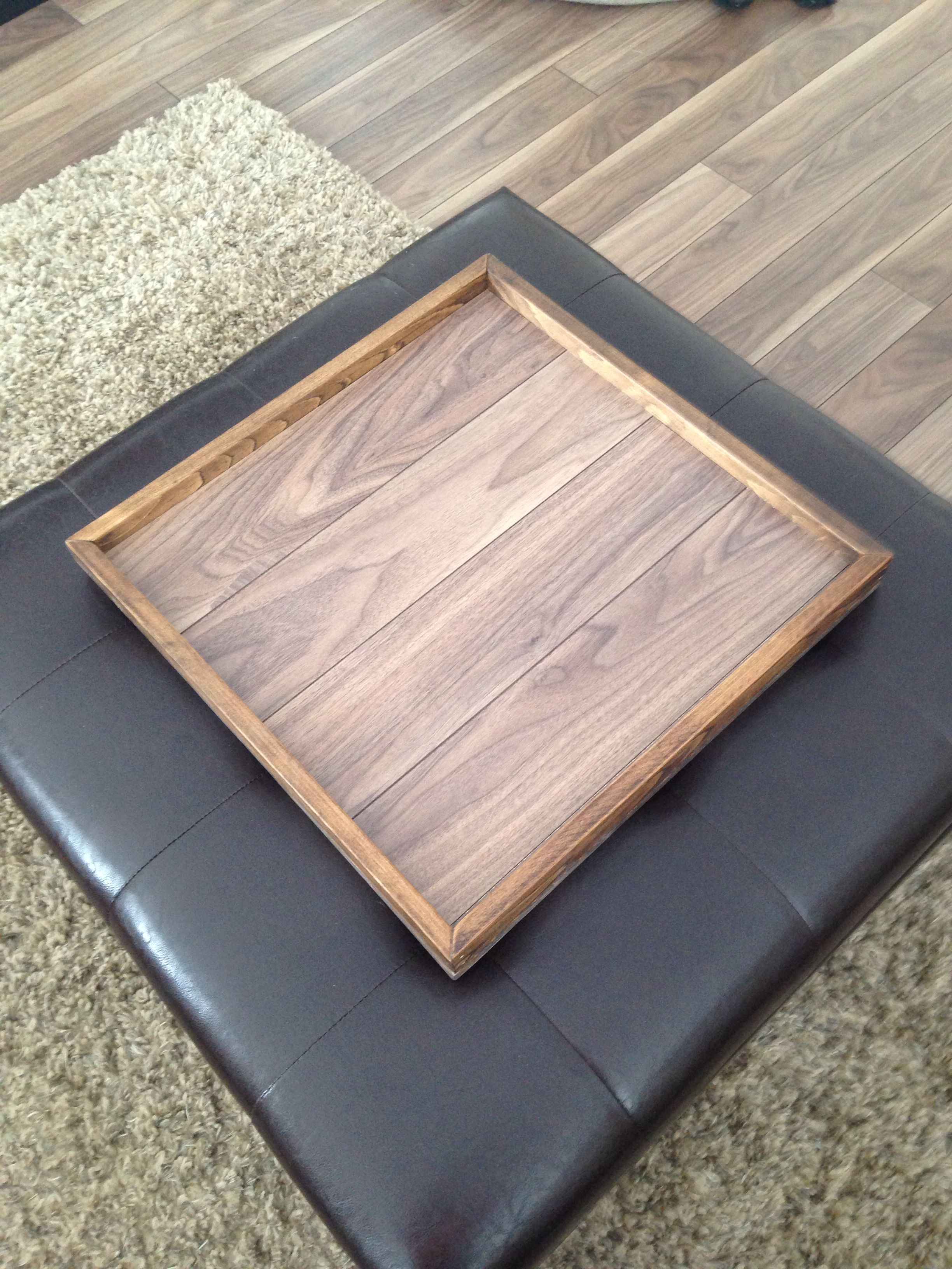 Ottoman Tray Made From Left Over Laminate Floor Diy Flooring