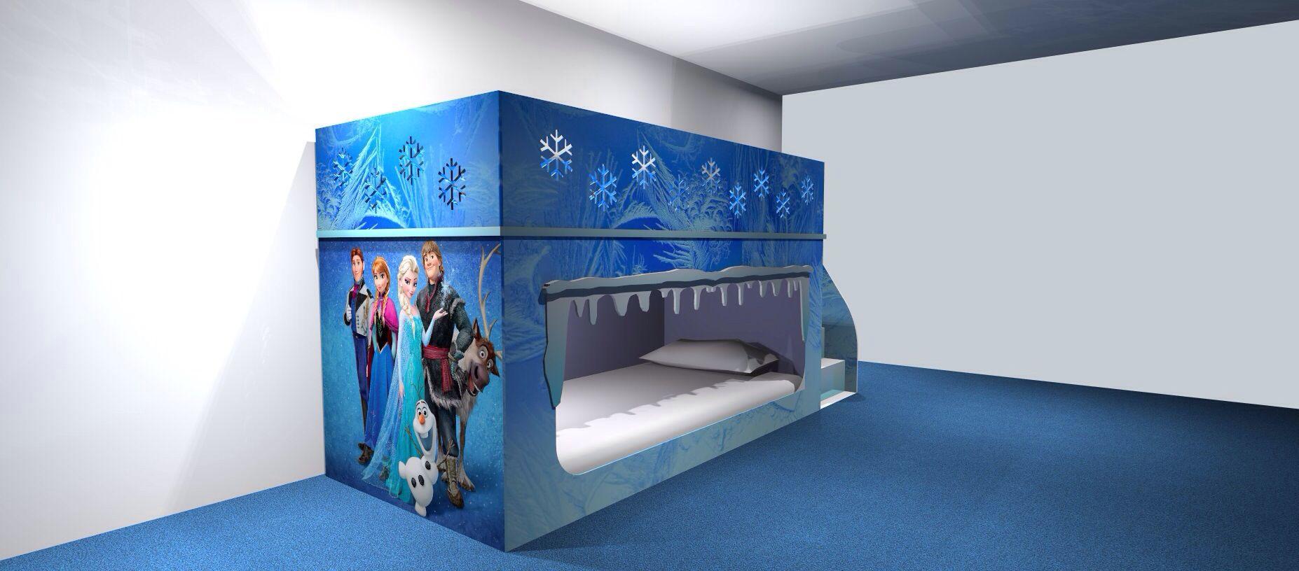 Frozen Inspired Bunkbed Www Dreamcraftfurniture Co Uk Frozen Bedroom Childrens Furniture Diy Furniture Bedroom Luxury frozen room pictures