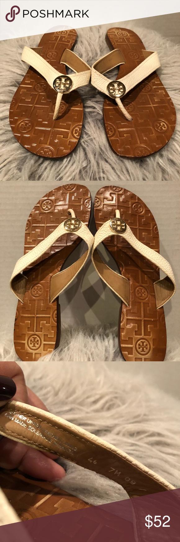 "f55afe06ee97 Tory Burch ""Thora"" thong sandals - sz. 7 EUC Tory Burch ""Thora ..."