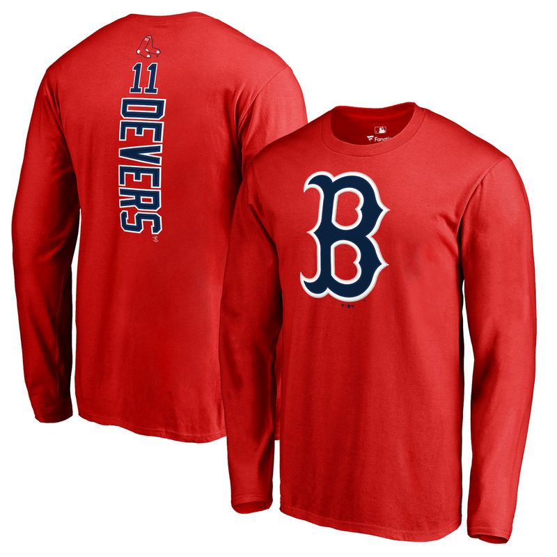 super popular 22ca3 e67c5 Rafael Devers Boston Red Sox Fanatics Branded Backer Long ...