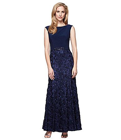 Alex Evenings Embellished Sleeveless Gown #Dillards   Wedding wishes ...