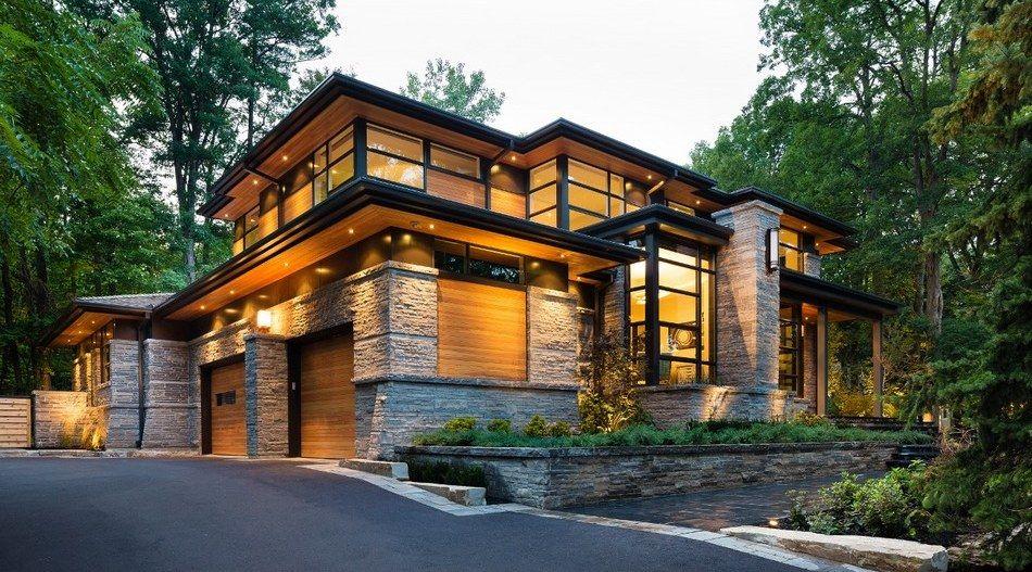 Splendide maison contemporaine aux matériaux traditionnels ...