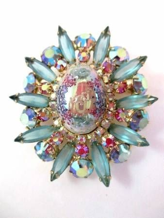 Jewelry Diamond : Vintage Juliana Easter Egg Brooch  I have the necklace that goes with this