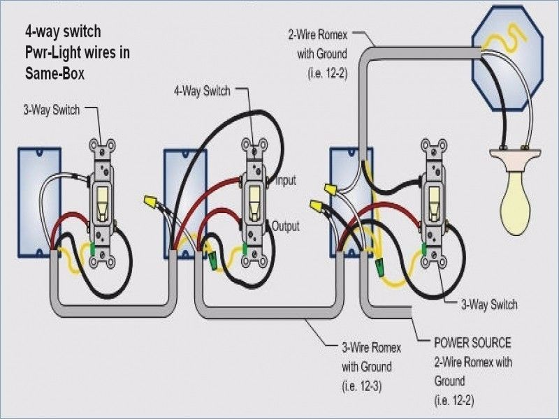 Wiring Diagram For A 4 Way Light Switch In 2020 Electrical Switch Wiring 3 Way Switch Wiring 4 Way Light Switch