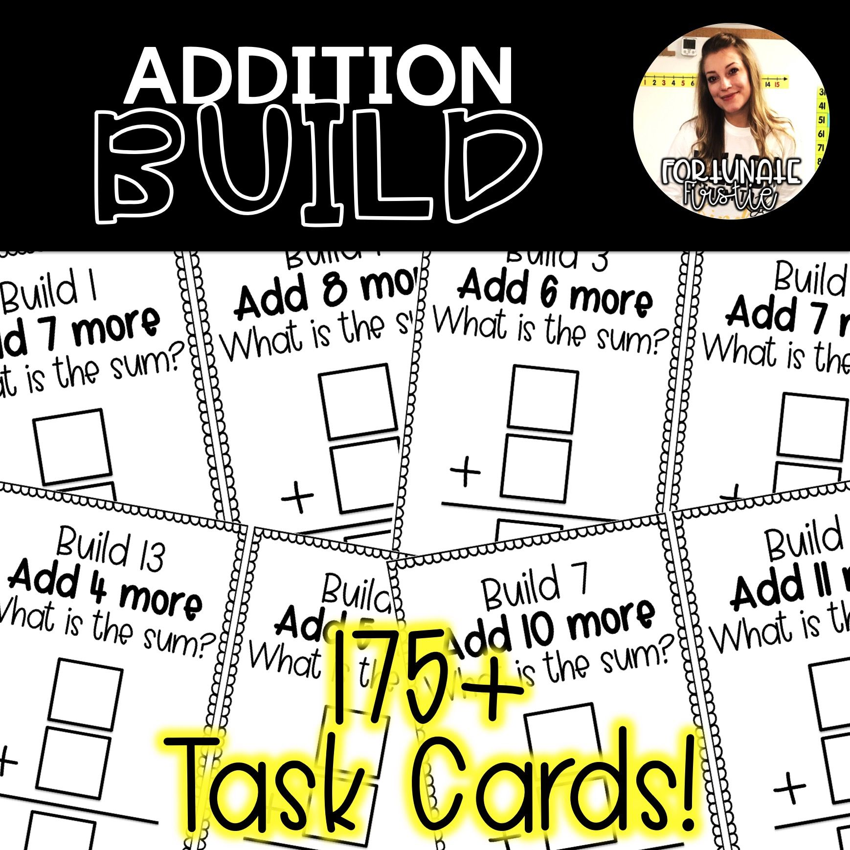 Addition Task Cards Building With Unifix Cubes
