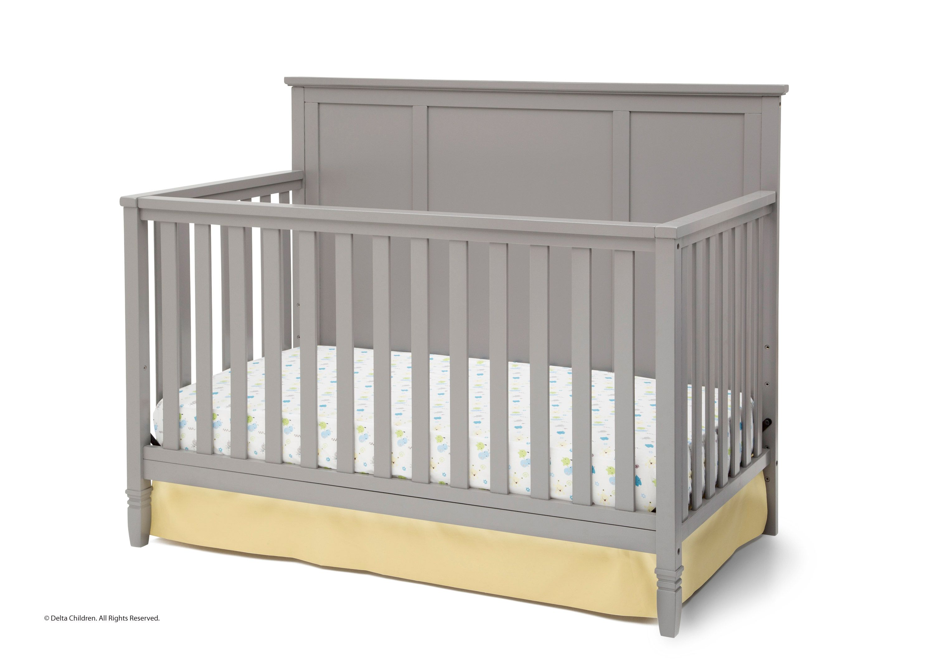 love this delta crib with the solid back wall