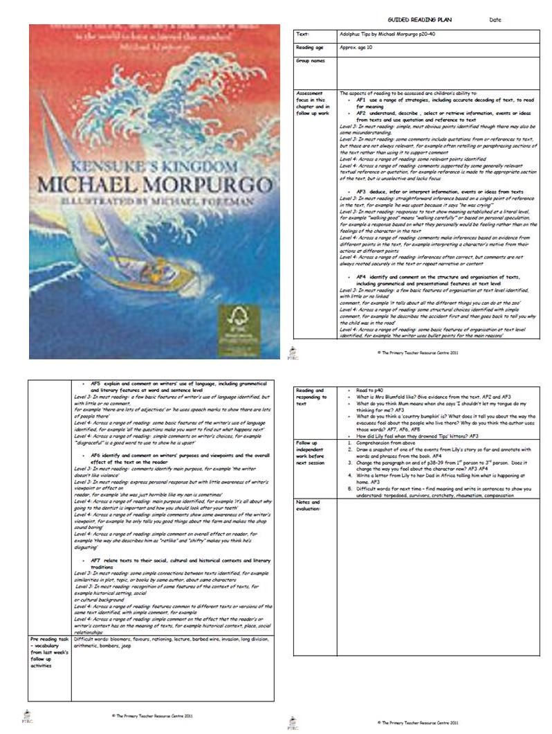 Workbooks the twits worksheets ks2 : Kensuke's Kingdom Guided Reading Plans | Must Read More ...