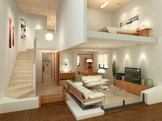 desain interior rumah minimalis dengan lantai mezzanine inspirasi arsitektur also rh nl pinterest