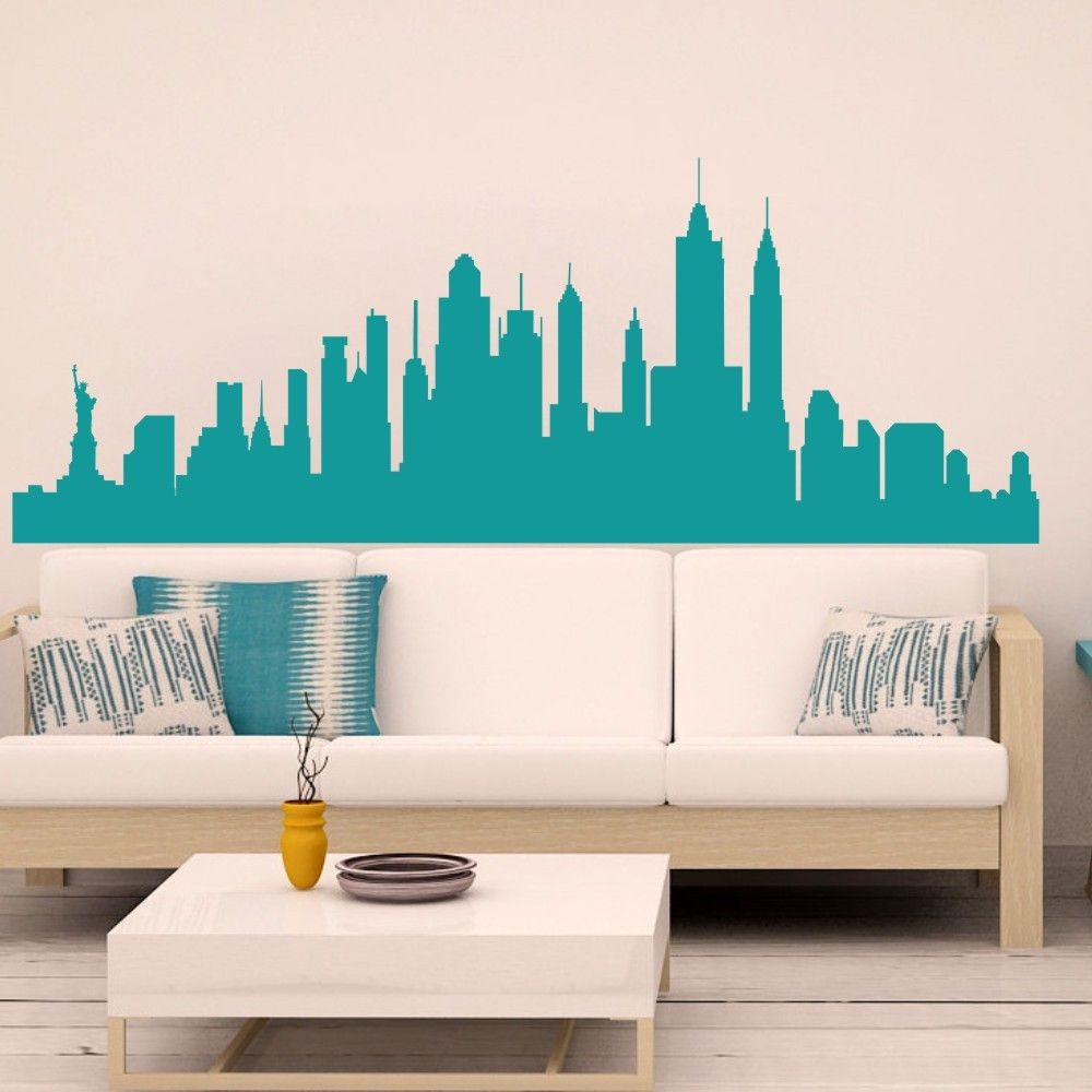 Wall Decal New York City Nyc Skyline Cityscape Travel Vacation Destination 3d Wall Sticker Art Wall Stickers Travel Trendy Wall Decor Wall Decals For Bedroom