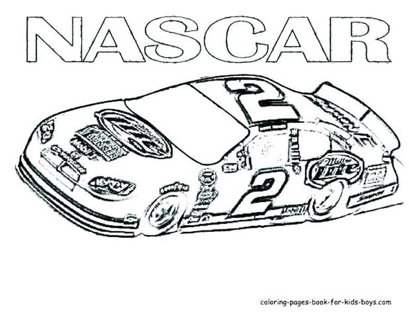 Full Force Race Car Coloring Pages Free NASCAR Cars