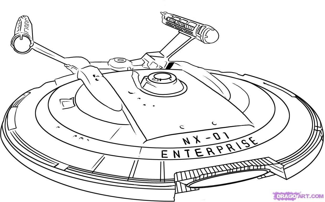how to draw the uss starship enterprise from star trek