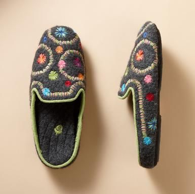 I LOVE the embroidered look! Do you think these could be worn as shoes? Yes or No?