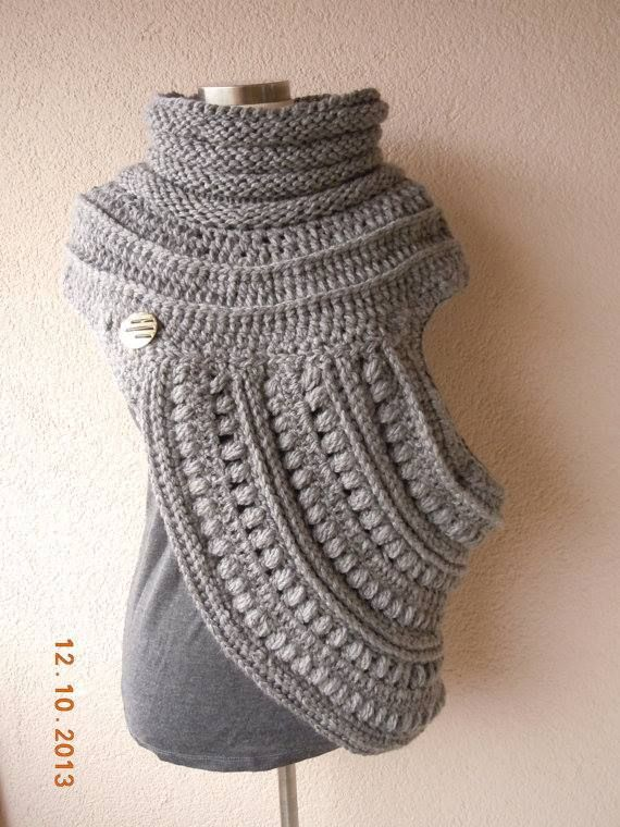 hand made katniss cowl | Outer Wearing | Pinterest | Tejido, Ponchos ...
