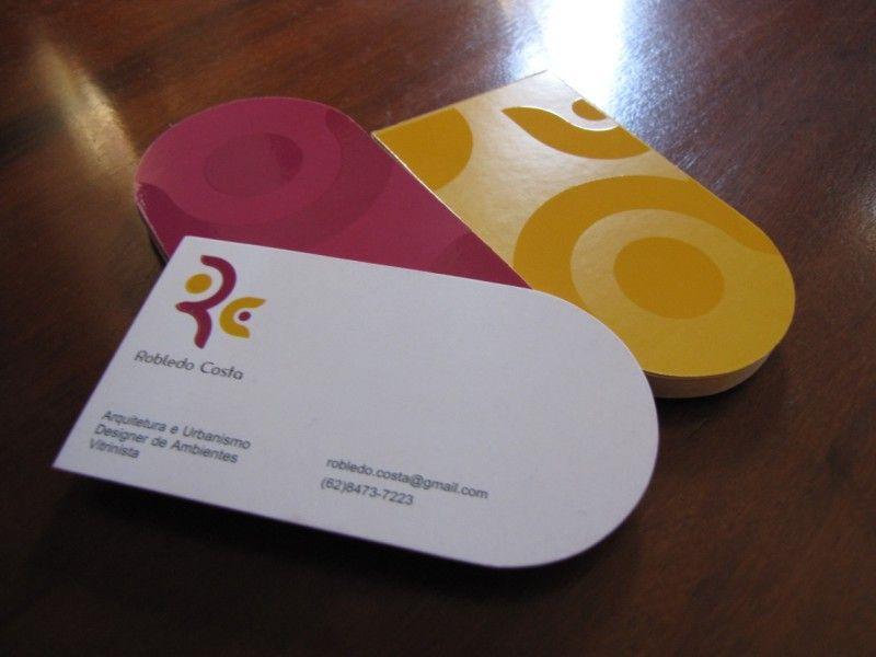 Half Round Business Cards Business Card Transparent