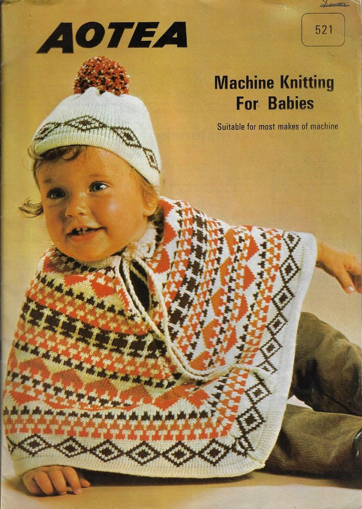 Aotea Machine Knitting For Babies Vintage Knitting Pattern Book Baby