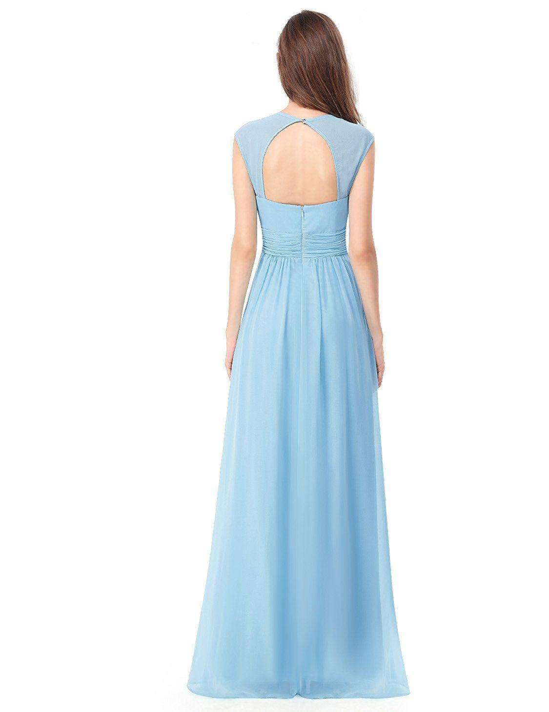 1e993ff2bb3 Ever-Pretty Womens Floor Lenth Short Sleeve Graduation Dress 08697 ...
