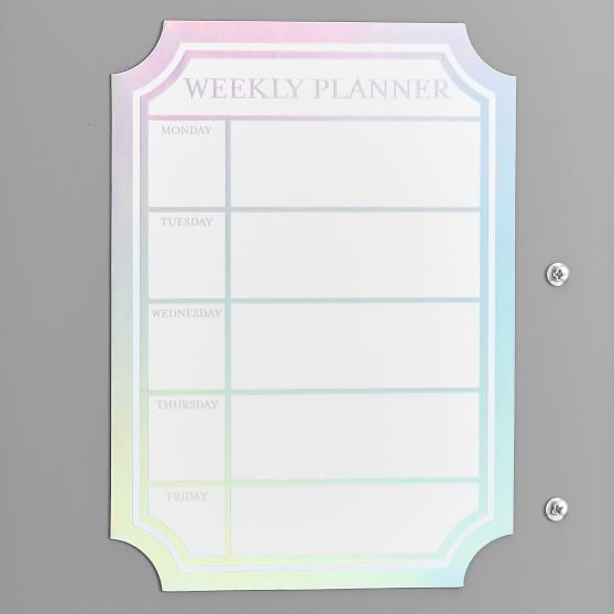 Iridescent Dry Erase Calendar Locker Decal Dry Erase