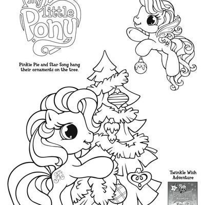 My Little Pony Coloring Page Pony and Christmas tree - copy my little pony coloring pages of pinkie pie
