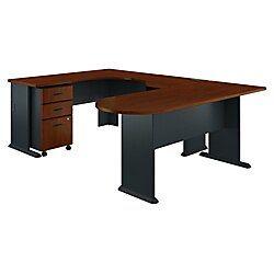 Bush Business Furniture Office Advantage U Shaped Corner Desk With