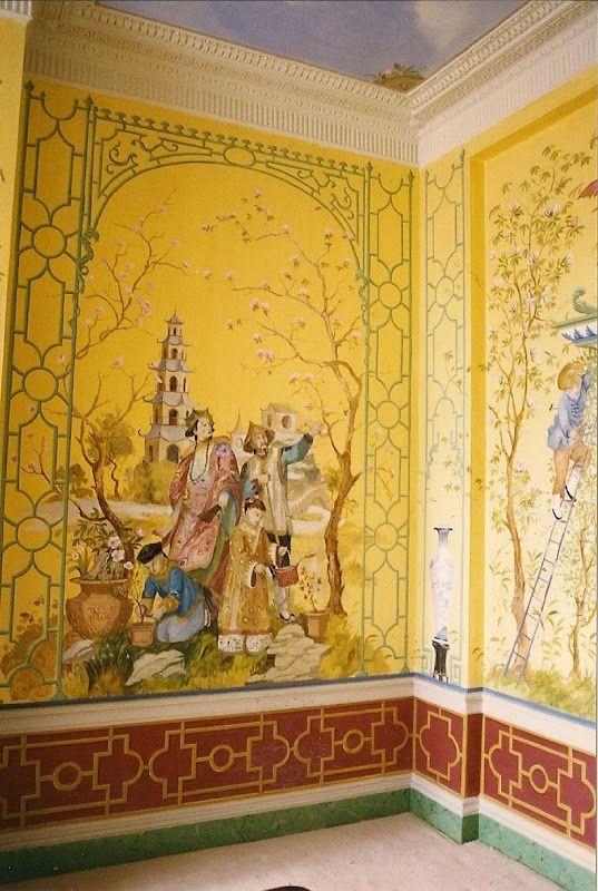 Incredible Chinoiserie Mural by Michael Dillon Angelique de Paris ...