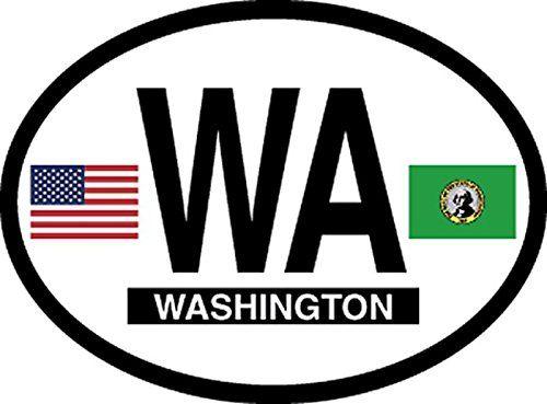 """El Salvador Flag Oval car window bumper sticker decal 5/"""" x 3/"""""""
