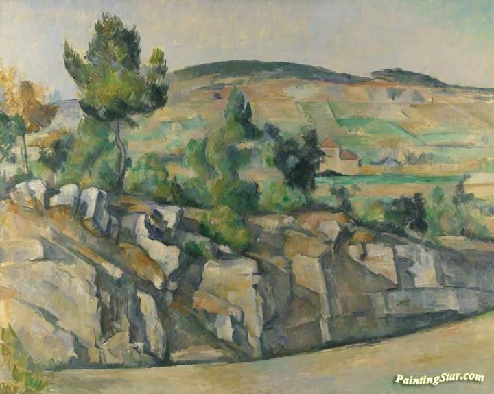 Hillside in Provence Artwork by Paul Cezanne Hand-painted and Art Prints on canvas for sale,you can custom the size and frame
