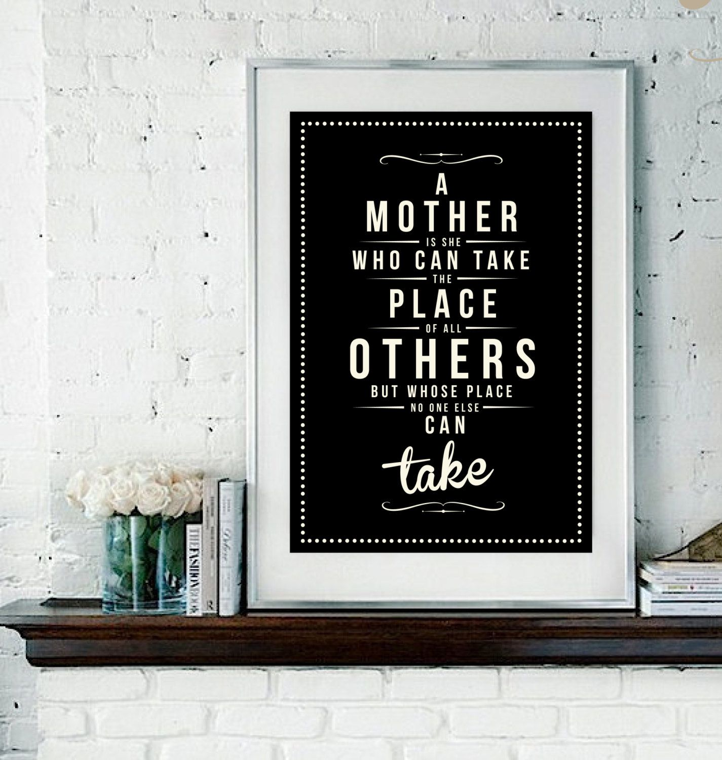 Retro Mother Mom Mum Quote Art Print - Vintage Typography Decor ...