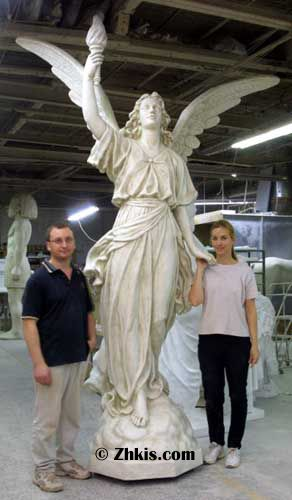 Giant Angel Statue With Torch Catholic Statues Angel Statues