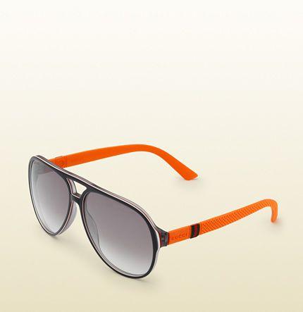 f37b0552c1e Gucci - aviator three-layer acetate sunglasses